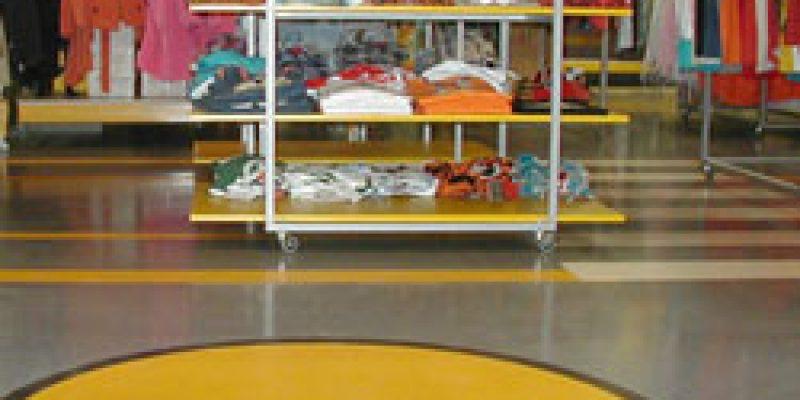 Напольные покрытия в магазинах и ТЦ