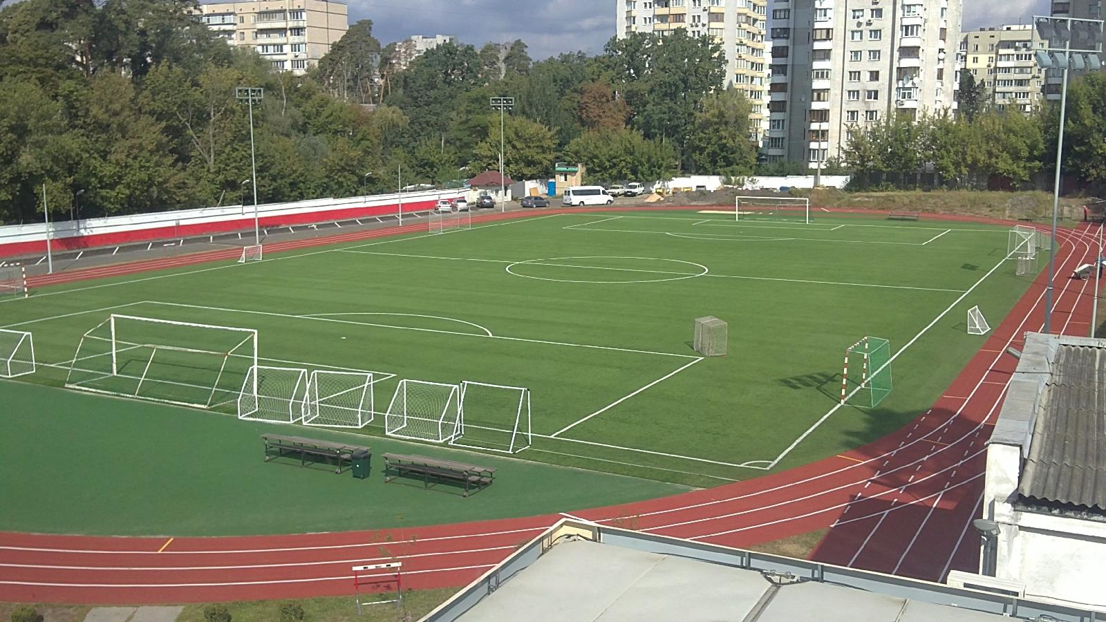 Киев, стадион Киевской интернациональной школы.
